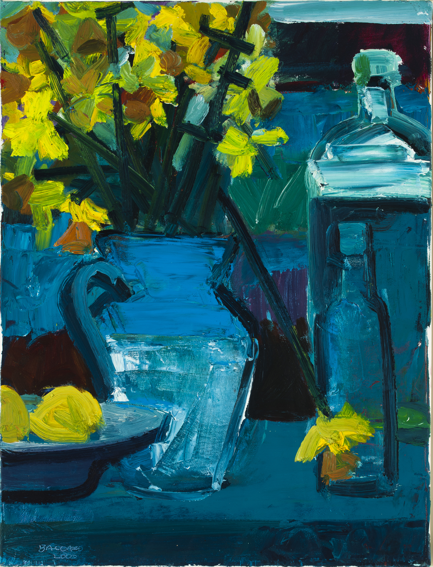 two bottles and daffodilsbrian ballard - art collection