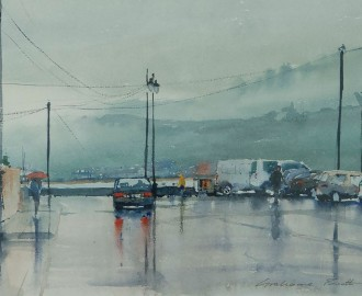 Rainy Day, Ballyhack by Grahame Booth